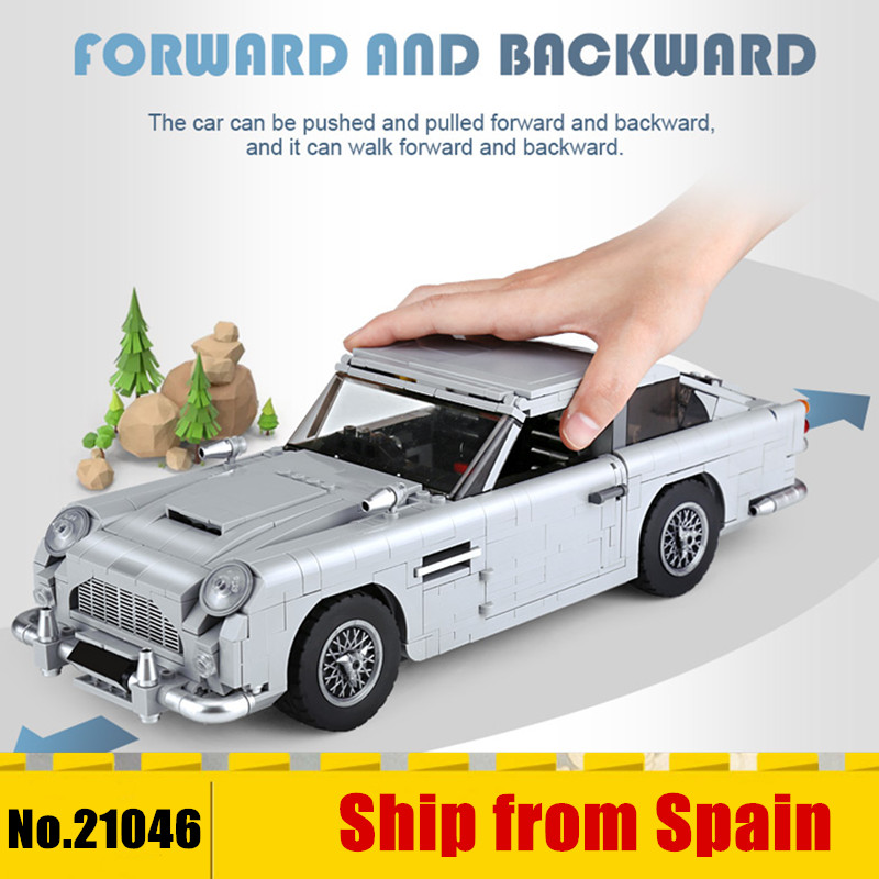 Ship From Spain 21046 Technic Car Series The 10262 Aston Car Martin Model Building Blocks Bricks