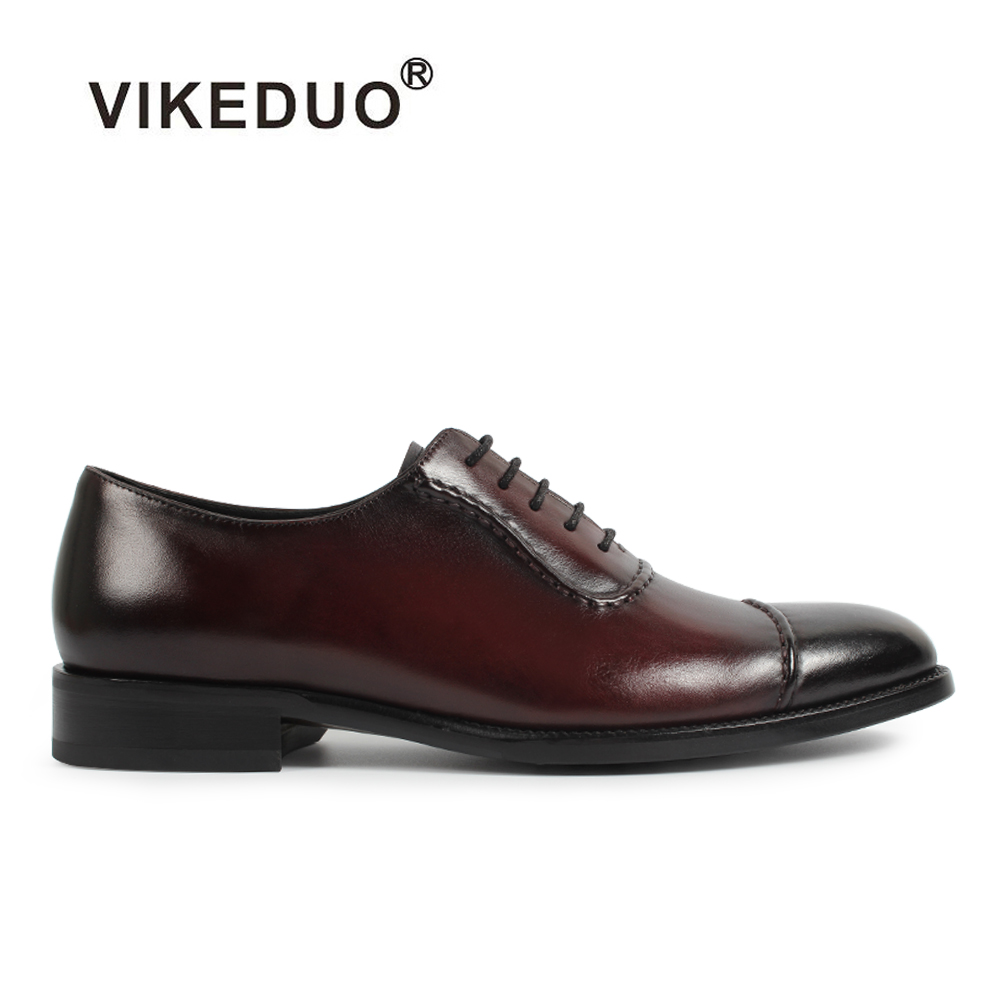 Vikeduo Handmade Vintage Classics Genuine Cow Leather Shoe Custom Office Party Wedding Dress Shoe Unique Design Men Oxford Shoes 2017 vintage retro custom men flat hot sale real mens oxford shoes dress wedding party genuine leather shoes original design
