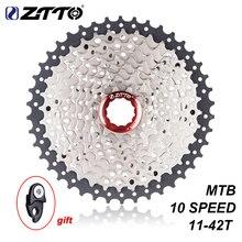 ZTTO 11-42T 10 скоростей 10s широкое соотношение MTB горный велосипед Кассета звездочки для запчастей m590 m6000 m610 m675 m780 X5 X7 X9