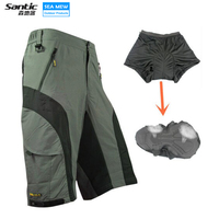 SANTIC cycling shorts bermuda ciclismo mountain bike mens bicycle shorts with 3D Gel Padded Detachable Underwear