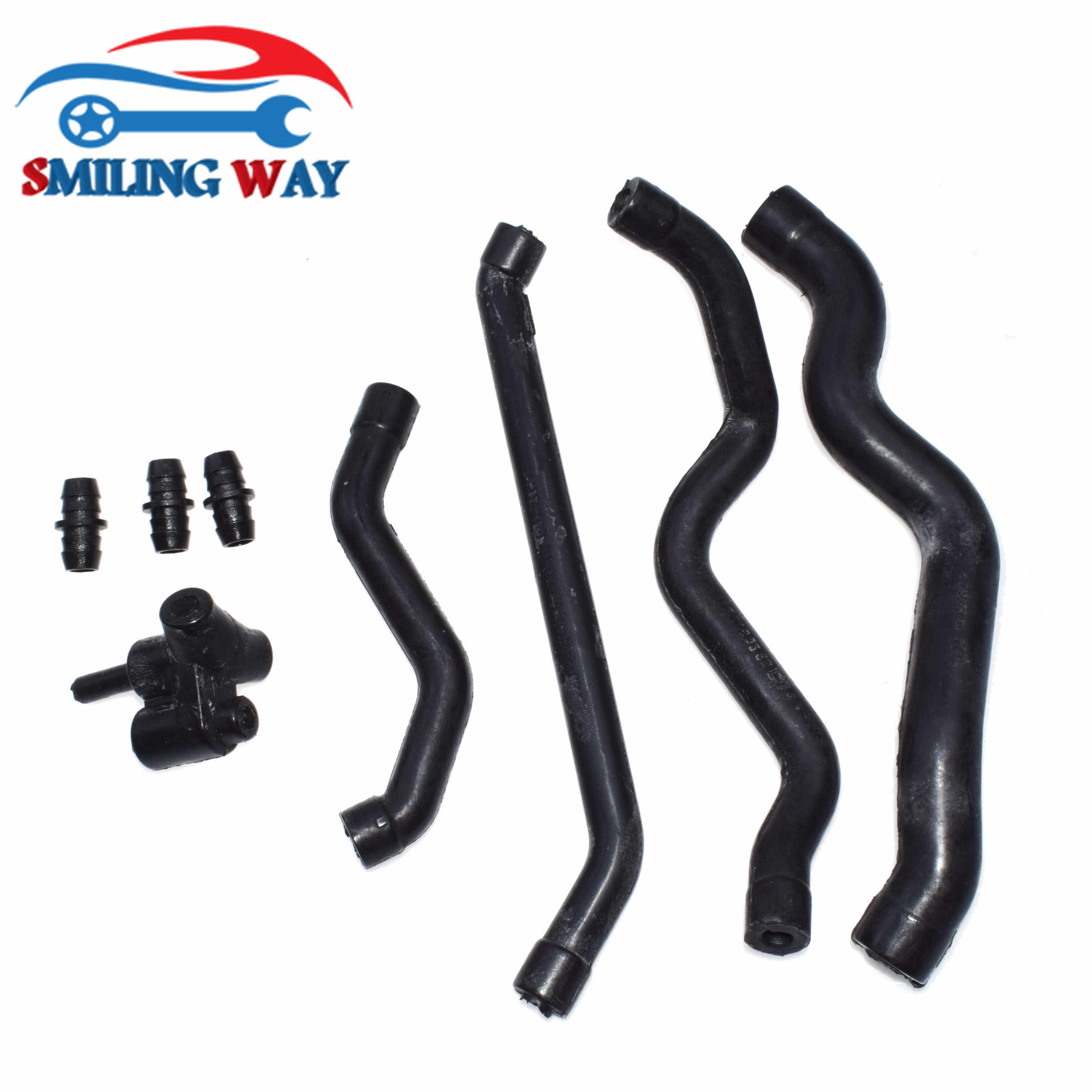 SMILING WAY# Crankcase Breather Hose Pipe Tube & Connector
