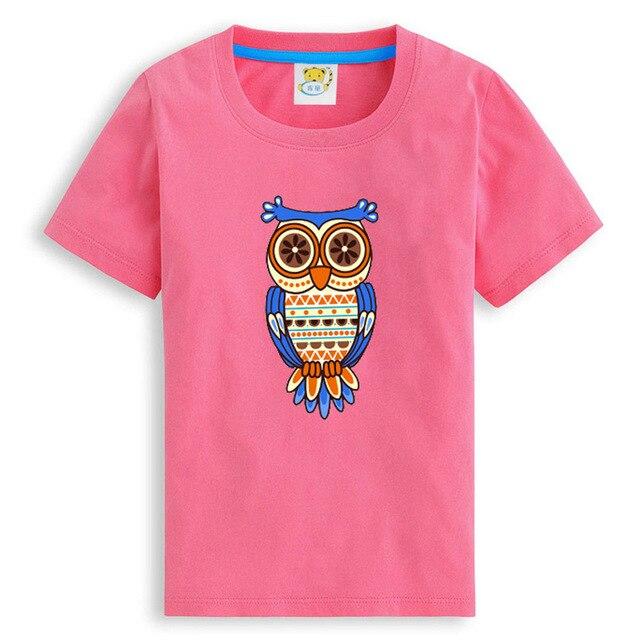 Мужской бренд мальчики девочки одежда Майка сова одежда для подростков одежда для девочек Мода детская Одежда сова