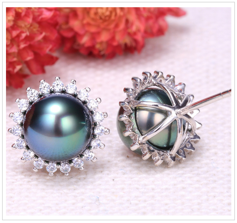 tahitian pearl earrings 100