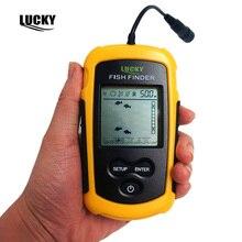 Lucky Echo Sounder Fishfinder Sonar for fishing Fish Finder Sensor 0.7-100M Depth Finder Russian Menu FF1108-1 Sondeur Peche B3