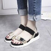 TXJ Summer women shoes flat sandals Ladies Fashion Roma Flat Solid Open Toe Sandals Casual Shoes sandales femme 2019 womens shoe цена
