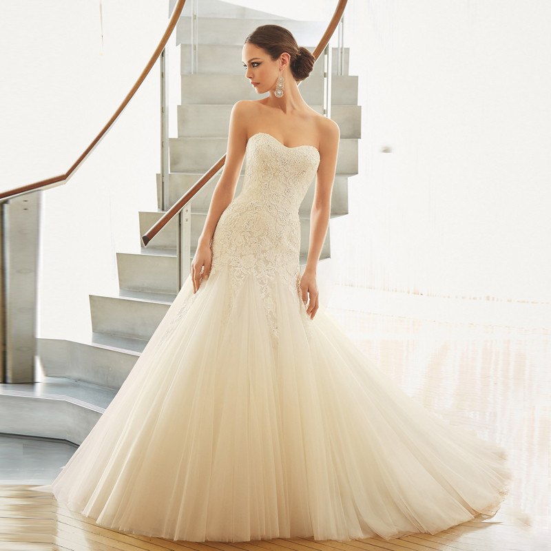 Simple Sweetheart Strapless Off The Shoulder Floor Length