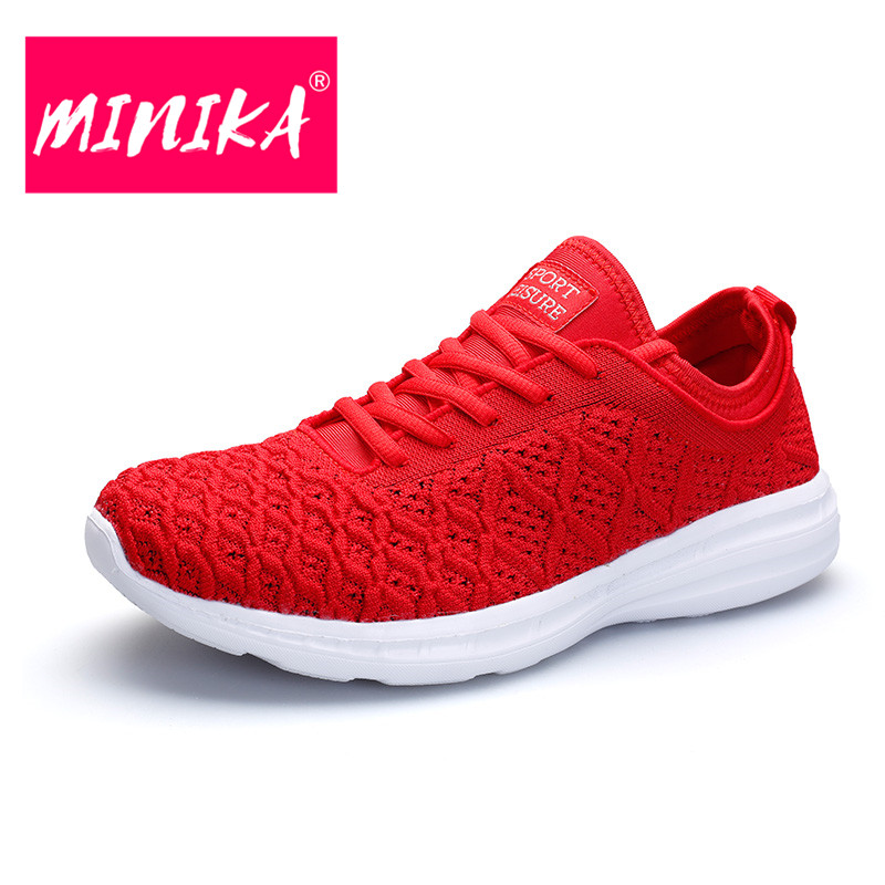 MINIKA 2018 New Design Colorful Shoes Women Fashion Youth Trend Breathable Women Flat Shoes 9 Colors Platform Sneakers Women gogc 2018 new floral denim slipony women breathable shallow shoes footwear flat shoes women fashion sneakers women summer spring