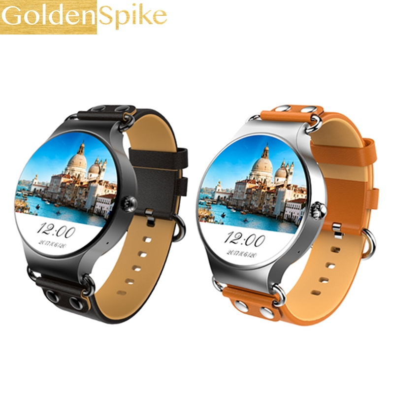 KW98 MTK6580 1.39 Inch AMOLED HD 8GB WiFi GPS Music Pedometer Heart RateA Monitor Android 5.1 Smart Watch Phone for IOS/Android