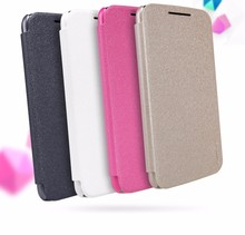 case for motorola g4plus 5.5 inch NILLKIN Sparkle PU leather case flip cover Retailed Package for motorola moto g4 plus case