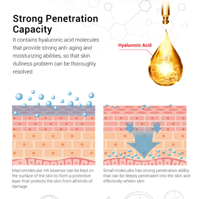 BREYLEE Serum Series Hyaluronic Acid Vitamin C Whitening Face Skin Care Rose Nourish 24k Gold Firm