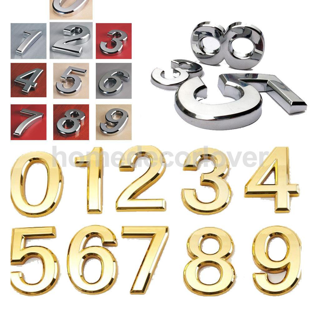 Golden Plastic Self-Adhesive House Hotel Door Number Sticky Numeric Digit 9