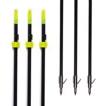 Бесплатная доставка, GPP 32 дюйма, черные стрелы для охотничьей ловли Bowfishing с широкоугольной головкой, 6 шт./PK