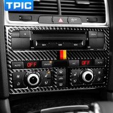 Auto Innen Zubehör Carbon Faser Auto Zentrale Steuerung CD Panel Auto Aufkleber Und Abziehbilder Auto Styling Für Audi Q7 2008 2015