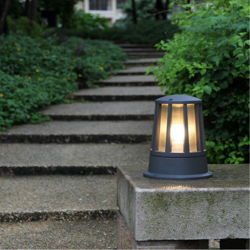 outdoor post pole garden light wall column lamp for villa/garden/courtyard exterior lighting luminaire path lawn light led outdoor small column courtyard wall lamp post villa exterior wall lamp lu8141400