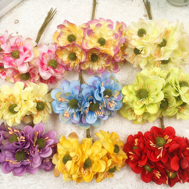 6 pcsartificial sunflower silk flowers gerbera diy wedding 6 pcsartificial sunflower silk flowers gerbera diy wedding decoration flower garland flower heads collage with simulation mightylinksfo