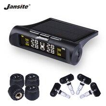 Jansite Car TPMS Tire Pressure Monitoring System Solar Charging HD Digital LCD Display Auto Alarm Wireless With 4 Sensor