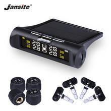 Jansite Car TPMS Tire Pressure Monitoring System Solar Charging HD Digital LCD Display Auto Alarm System Wireless With 4 Sensor(China)