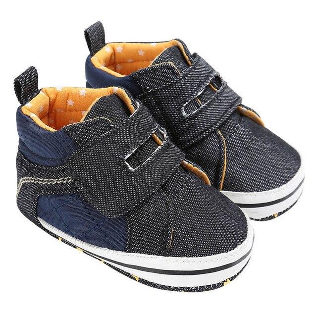 a8d2208e6 Hot Selling New Trendy Children Brown Black Shoes Baby Toddler Boys Denim  Cute Crib Shoes Anti-Slip Prewalker Soft Sole Shoes