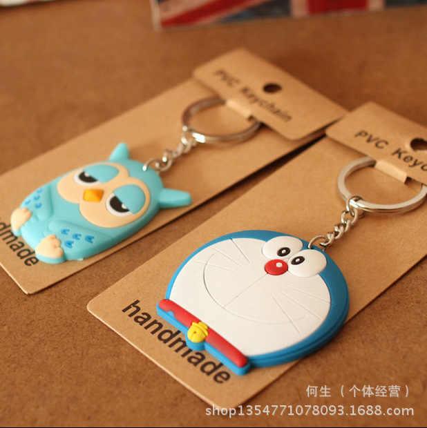 IVYYE 1 PCS 6 CM Girassol Doraemon Anime Action Figure PVC Modelo Coleção Figuras Bonitos Dos Desenhos Animados Brinquedos Chaveiro Presentes Unisex