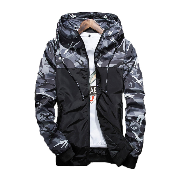 NaranjaSabor 2017 Spring Men's Camouflage Coat Mens Hoodies Casual Jacket Brand Clothing Mens Windbreaker Coats Male Outwear 6XL