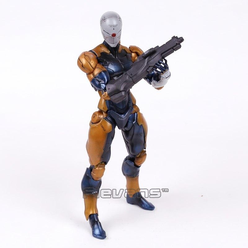 Play Arts Kai Metal Gear Solid Revoltech Gray Fox Cyborg Ninja PVC Action Figure Collectible Model