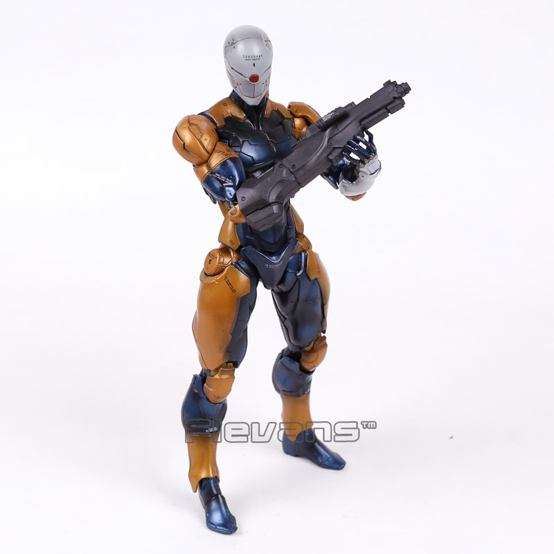 Play Arts Kai Metal Gear Solid Revoltech Gray Fox Cyborg Ninja PVC Action Figure Collectible Model Toy metal gear solid v the phantom pain play arts flaming man action figure super hero