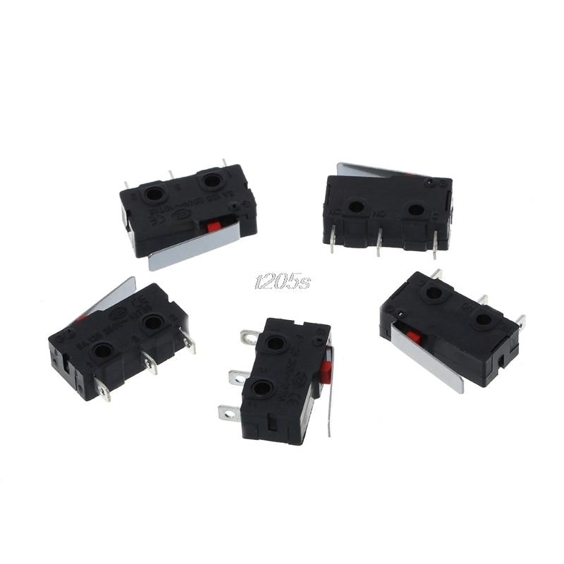 5 Pcs Travel Limit Switch 3 Pin N/O N/C 5A 250VAC KW11-3Z Micro Switch T16 Drop ship