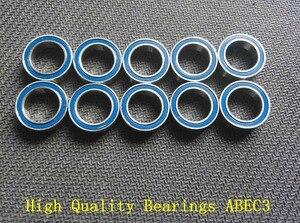 10PCS 6x13x5 Blue rubber bearing 6x13x5mm 686 2RS ABEC3 Model bearing(China)