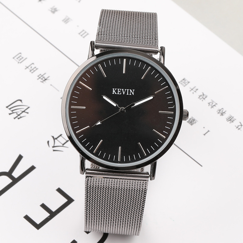 Hot Fashion Stainless Steel Black & Silver Wrist Watch Luxury Women Simple Leisure Watches Quartz Watch daybird stainless steel quartz wrist watch black 1 x lr626