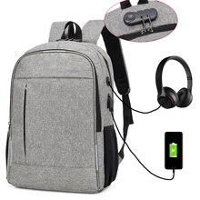 HIFAR Backpack Laptop USB Charging Backbag Travel Daypacks Male School Bookbag Leisure Anti Theft Mochila