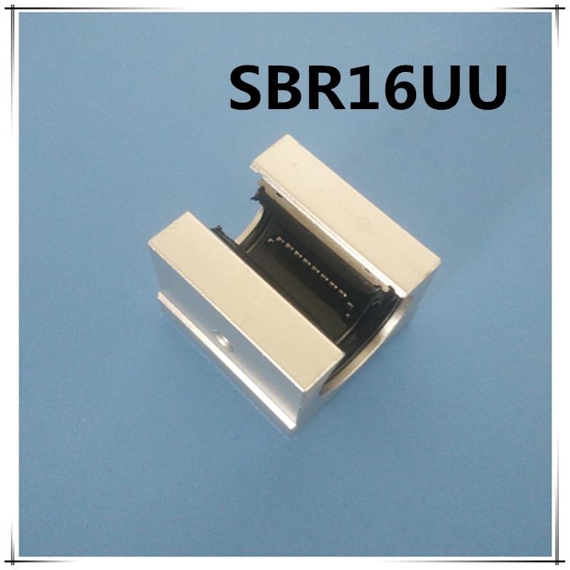 Free shipping SBR16UU SBR16 16mm Linear Ball Bearing Block CNC Router 2pcs sbr16 l1000mm linear guide 4pcs sbr16uu block cnc router