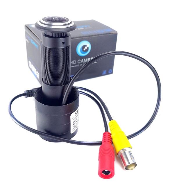 Mini caméra de sécurité analogique 800TVL, FishEye, grand Angle, caméra vidéo de porte, compatible avec TV, moniteur, vue directe