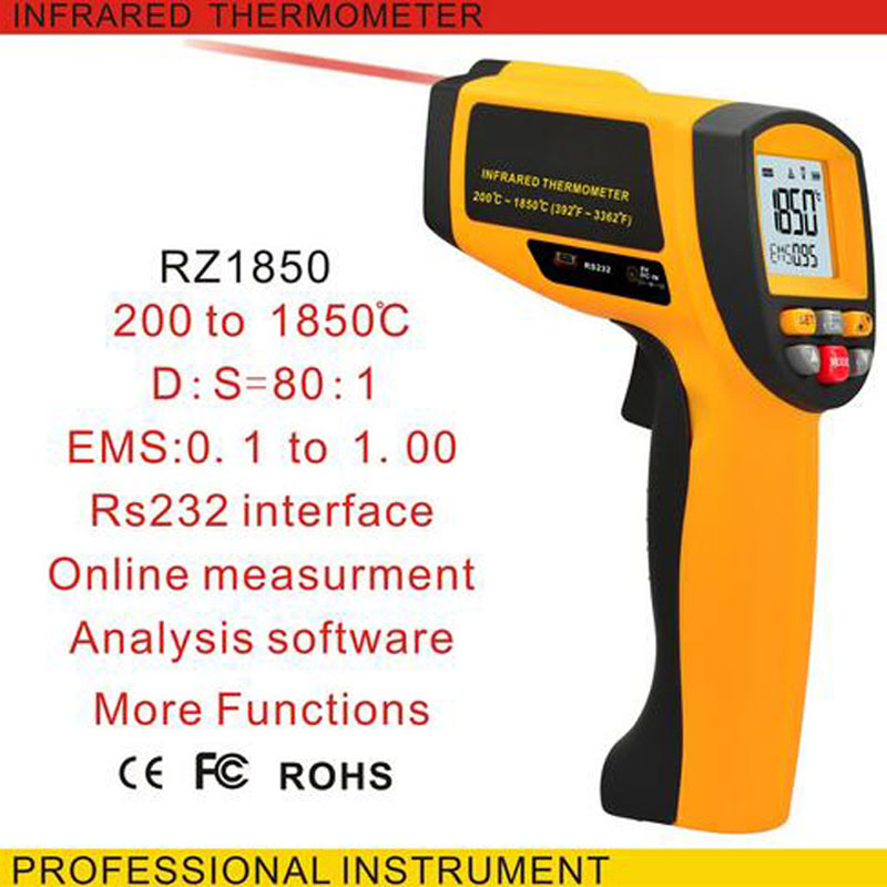 GM1850 200-1850 oC Digital Infrared Thermometer Temperature Measuring Gun Industrial Thermometer Online Measuring Tool hp 920 pocket size digital infrared thermometer with measuring 50 920c