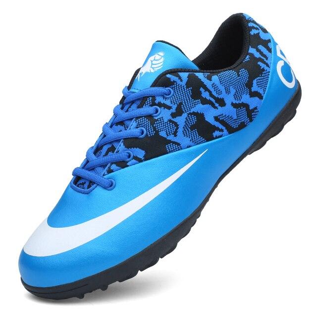 75755d5f4b08 ZHENZU New Black Blue Pink Men's Football Boots Indoor Soccer Cleats Shoes  Sneakers chaussure de foot voetbalschoenen
