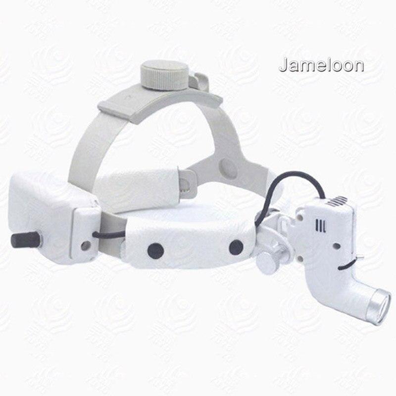 Chirurgical médical phare led lumière loupe loupe tête lampe réglable opération de haute intensité à la charge dentaire phare