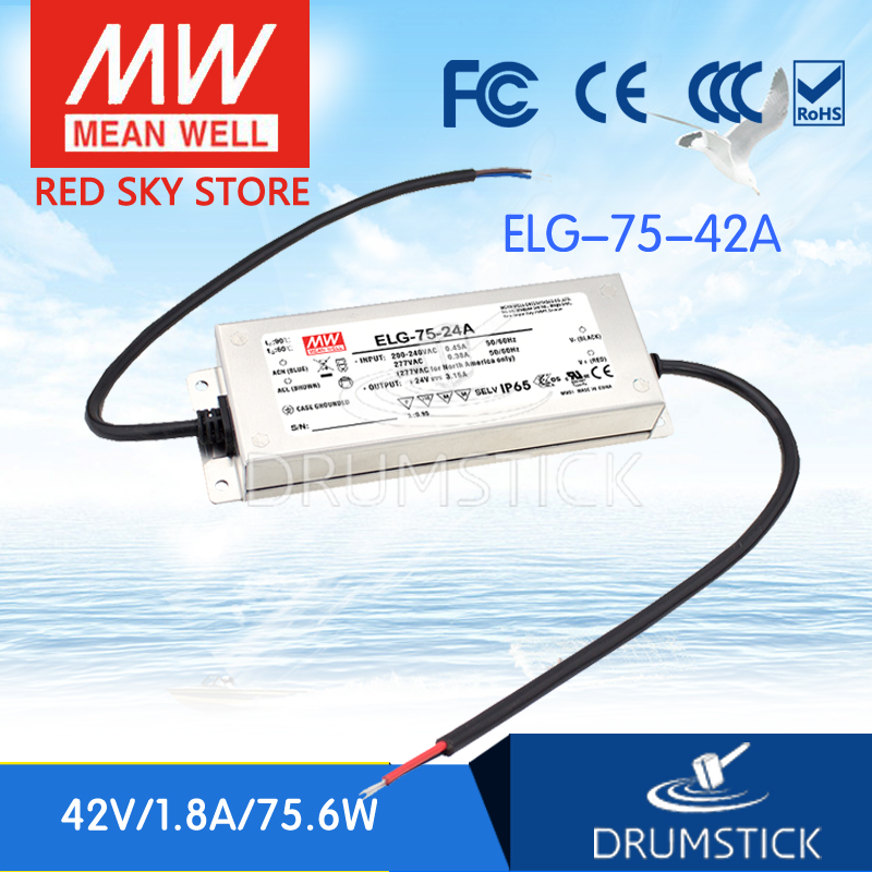 цена на Genuine MEAN WELL ELG-75-42A 42V 1.8A meanwell ELG-75 42V 75.6W Single Output LED Driver Power Supply A type