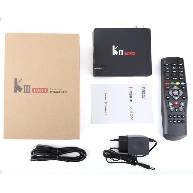 KIII PRO DVB-S2 DVB-T2 DVB-C декодер Кода Android 7,1 ТВ коробка 3 Гб оперативной памяти, 16 Гб встроенной памяти, K3 Pro Amlogic S912 Octa Core 64bit 4 K комбинированный набор компьютерной приставки к телевизору 5