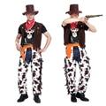 Halloween masquerade костюма cosplay взрослых ковбойские сценические костюмы родители установлен