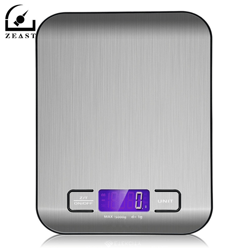 HN-MS2 5000g Digital Scale Kitchen Cooking Measure Tools Stainless Steel Electronic Weight LCD Electronic Bench Weight Scal