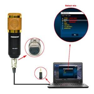Image 3 - FREEBOSS BM 800 מקצועי הקבל מיקרופון עם 3.5mm שקע מתכת הלם הר Wired מיקרופון להקלטה מקהלה
