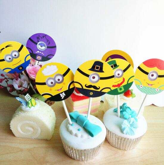 Pleasing New Sale 35 Pcs Lot Despicable Me Minion Cupcake Topper Cake Funny Birthday Cards Online Aeocydamsfinfo