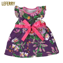 2018 New Summer Baby Girl Dress Sleeveless Cotton Baby Girls Clothes Flowers Printed Baby Girls Dresses Toddler Girls Clothing