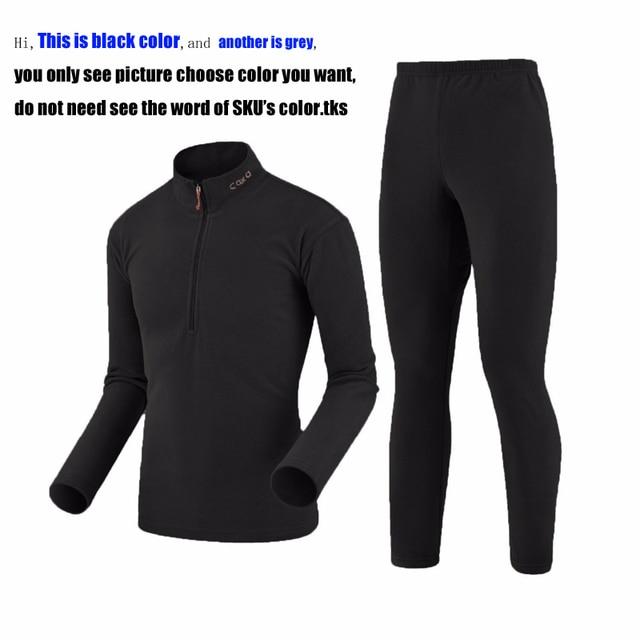 2016新しい新しい到着冬カジュアル熱下着男性防風ソフトスーパー暖かい厚みのフリースメンズロング下着スーツ
