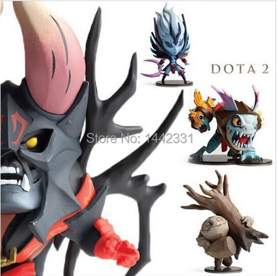 2015 4pcs/lot 10cm Dota 2 Slark Tiny Lucifer Vengeful