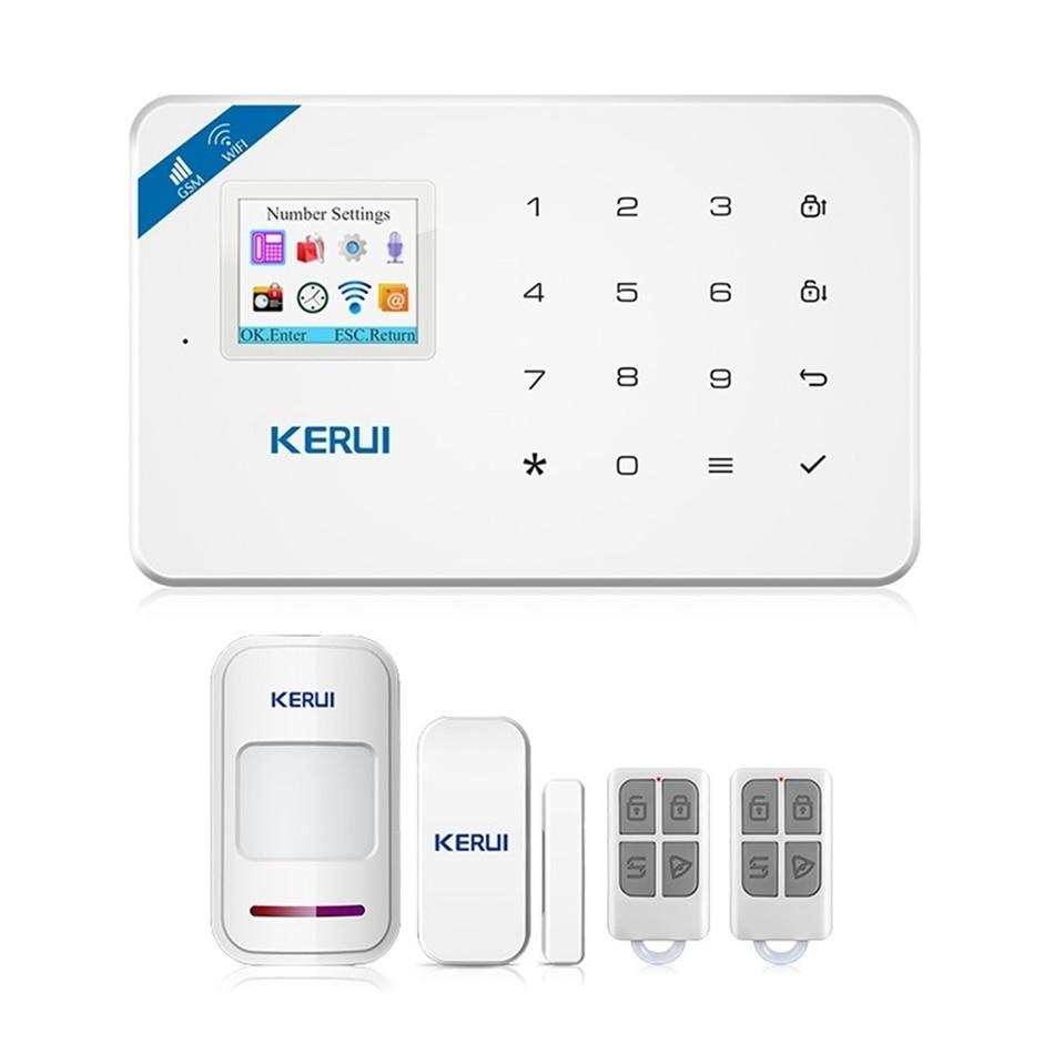 W18 WiFi GSM SMS Home Burglar Security Alarm System PIR Motion Detector APP Control Alarm for Smart Home Automation smart home automation wireless power socket for security alarm g90b wifi gsm alarm system app control