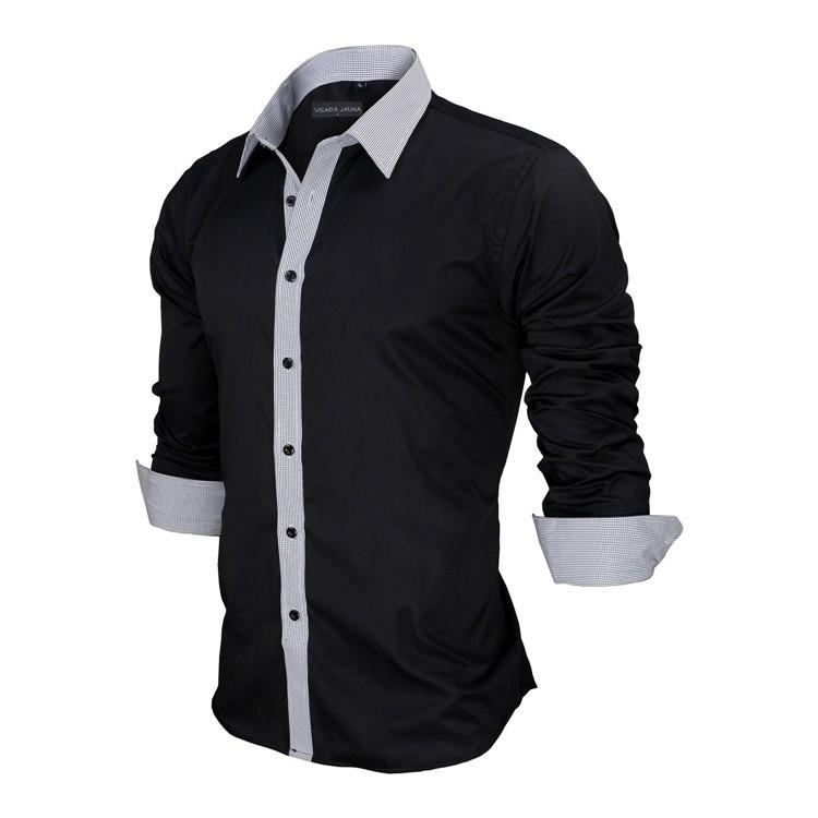 HTB1M40YKVXXXXa3XFXXq6xXFXXXU - New Arrivals Slim Fit Male Shirt Solid Long Sleeve British Style Cotton Men's Shirt N332