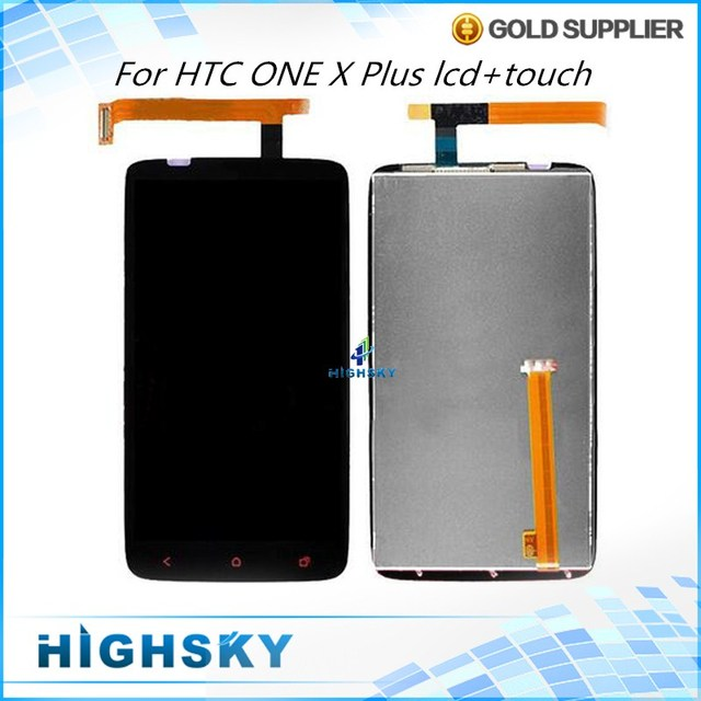 Black For HTC ONE X+ Plus LCD S728E Display + Touch Screen Digitizer With Red Button Assembly 4.7 inch 1 Piece Shipping
