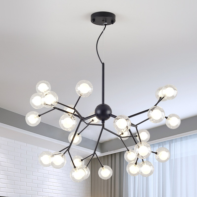 Modern firefly tree branch leaf ceiling hanging chandelier light lamp LED decorative room nordic design lustre chandeliers G4