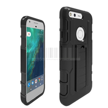 Rugged Hybrid Hard Armor Cases Belt Clip Kick Stand Impact Shockproof Holster Phone Cover For Google Pixel/ XL