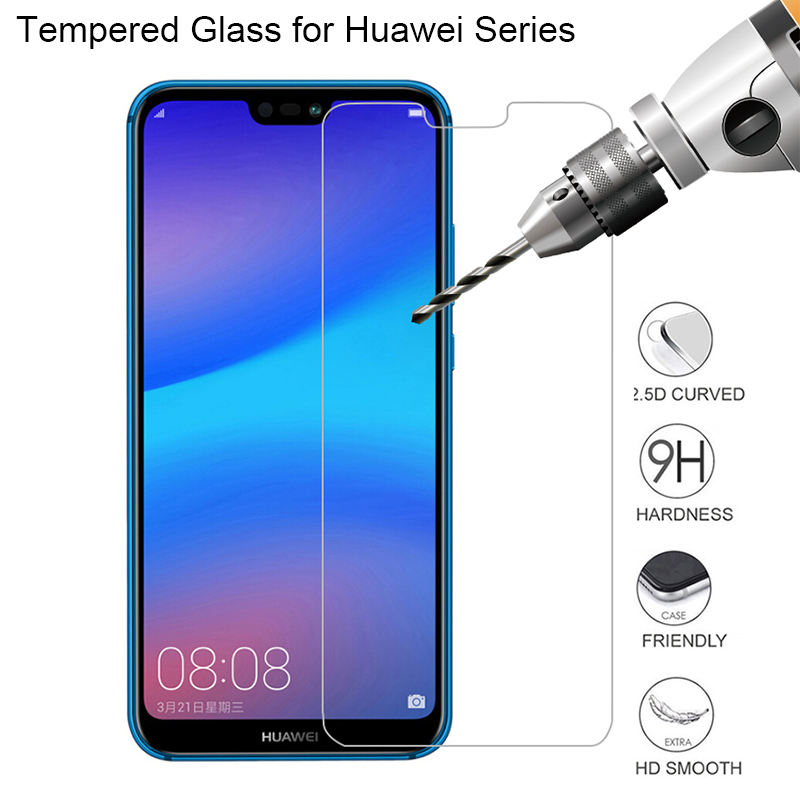 Tempered Glass Film for Huawei P Smart 2019 Mate 20 10 Lite Pro P20 P30 Lite P20 Pro Honor 8X Screen Protector Anti-Scratch 2.5D